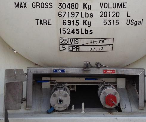 ISO Tanks Containers IMO-5 for Gases Propane Butan LPG LPG
